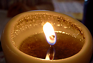 Burning a CandleSmith candle enhances its beauty